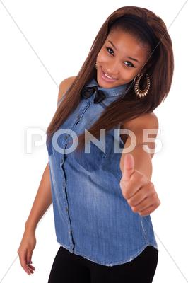 Stock photo of young african woman.