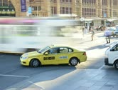 4K, Time lapse of Melbourne Flinders Street Crossing point Stock Footage