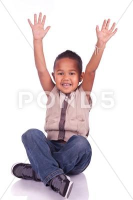Stock photo of adorable child sitting