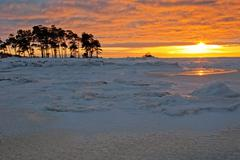 Stock Photo of winter sunset
