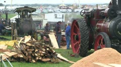 steam powered wood saw 43 - stock footage