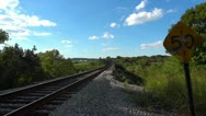 Diesel Train Countryside 2 HD Passing By Stock Footage