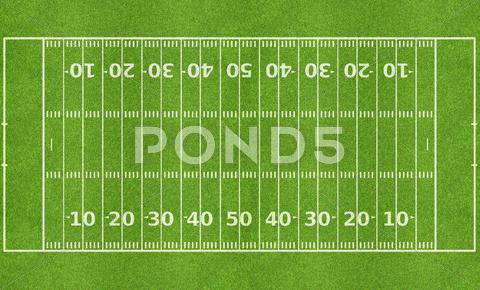 Stock photo of american football field