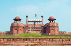 red fort - stock photo