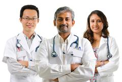 multiracial doctors - stock photo
