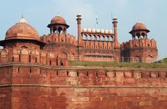 lal qila - red fort - stock photo