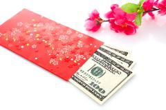 Chinese new year red packet Stock Photos