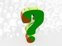 question - stock illustration