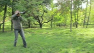 Marrying couple on a swing. Photographing process. wedding Stock Footage