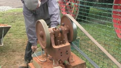 Stone braking machine 03 Stock Footage