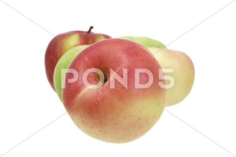 Stock photo of apples on a white background