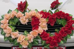Wedding wreaths Stock Photos