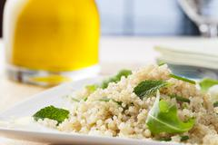 Fresh quinoa salad Stock Photos