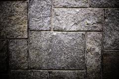 grey stone wall - stock photo