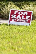 House for sale by owner sign Stock Photos