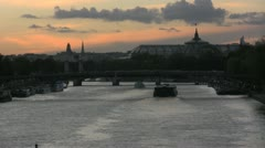 Twilight over the Seine - stock footage