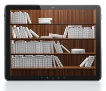 Digital library Stock Illustration