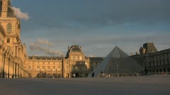 Stock Video Footage of Louvre Sunset