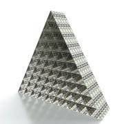 financial pyramid - stock illustration