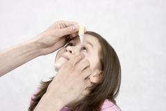 Medicine for sick eyes Stock Photos