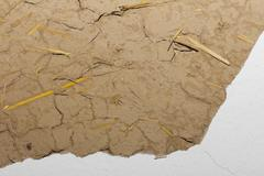 Background clay walls Stock Photos