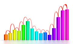 Stock Illustration of business graph