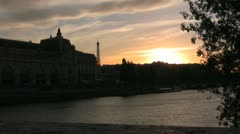 Twilight over the Seine 2 - stock footage