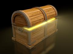 treasure chest - stock illustration