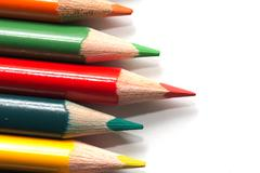 Colored pencils. macro Stock Photos