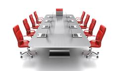 Conference table. Stock Illustration