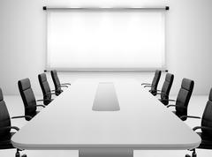 meeting room - stock illustration