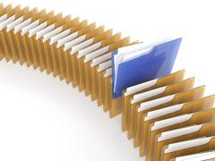 Folder with files Stock Illustration