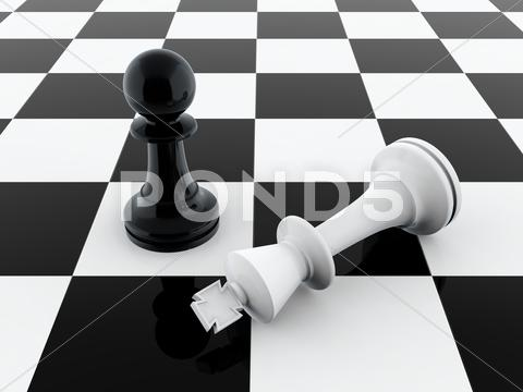 Stock Illustration of pawn wins