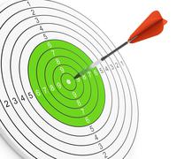 dart and target - stock illustration