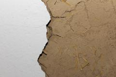 background clay walls - stock photo