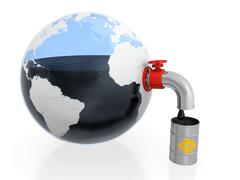 Oil extraction Stock Illustration