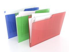 files and folders icon - stock illustration