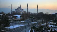 Sultanahmet Square at eventide Stock Footage