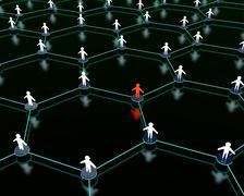 Stock Illustration of social network