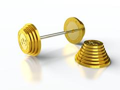 coin barbell - stock illustration