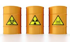Barrel with toxic waste Stock Illustration