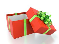 Stock Illustration of red gift box