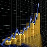 business graph - stock illustration