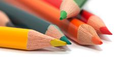 Stock Photo of colored pencils. macro