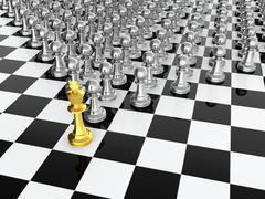 Chess leader Stock Illustration