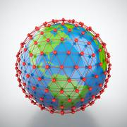 Earth in red cage Stock Illustration