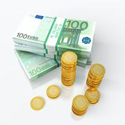 Stack of euro Stock Illustration