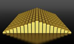 gold bars - stock illustration