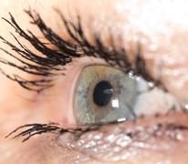 Macro image of human eye Stock Photos