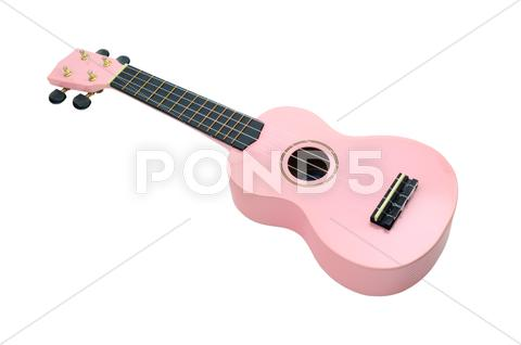 Stock photo of pink ukulele